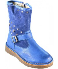 Naturino Boots enfant Bottes Petite Fille Bleu Avio Cuir Velcro Zip 4744