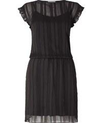 Neo Noir Kleid mit Rüschenärmeln