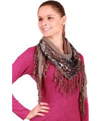 YooY Stylový, hřejivý šátek světle hnědá