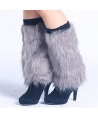 Cixi Kožešinové návleky na boty šedé 40 cm