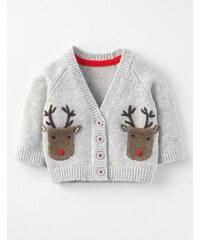 Weihnachtlicher Cardigan mit Rentiermotiv Grau Baby Boden