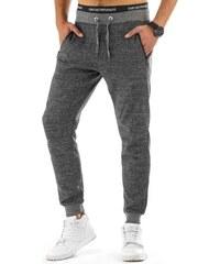 Ležérní pánské baggy kalhoty v šedém melíru