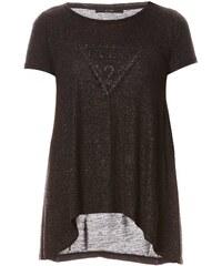 Guess Triangle Knit - T-shirt - noir