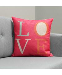 Lesara Bunte Kissenhülle Love - Pink