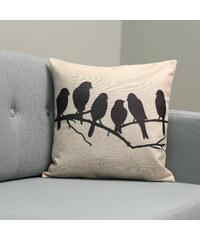 Lesara Kissenhülle Vögel auf dem Ast