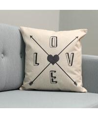 Lesara Kissenhülle mit Love-Print