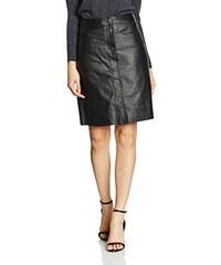 Filippa K Damen Rock Panel Button Leather Skirt