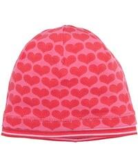 maximo Mädchen Mütze Beanie, Bedruckter Jersey, Rote Herzen