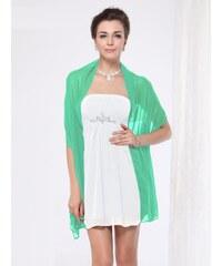 Ever Pretty Šifonový pléd, společenská šála, přehoz jemně zelená