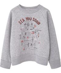 MANGO KIDS Gemustertes Sweatshirt Mit Aufschrift