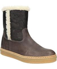 Weinbrenner Kožená zimní obuv s kožíškem