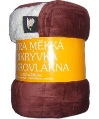 Svitap Deka mikrovlákno - Deka Ovečka mahagonová/bílá 150x200