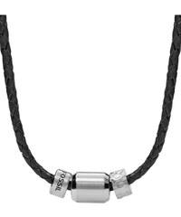 Fossil Vintage Casual Leder Herren-Halskette JF02474