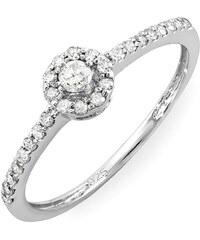 KLENOTA Zlatý diamantový zásnubní prsten