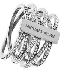 Michael Kors Pozlacený ocelový prsten s krystaly MKJ4422710