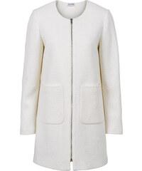 BODYFLIRT Manteau sans col blanc manches longues femme - bonprix