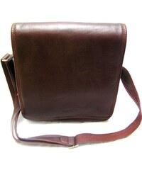 Kožená taška přes remeno KATANA - hnědá 2b4b6a1b300