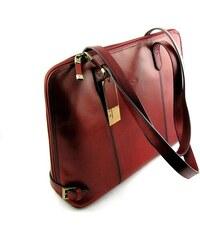 Kožená kabelka KATANA - červená cee4bd8d1df