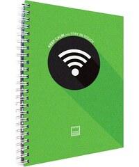 MAKENOTES Záznamová kniha A4 KEEP CALM zelená
