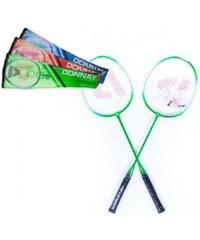 Teddies Sada badminton + 3 košíčky - červená