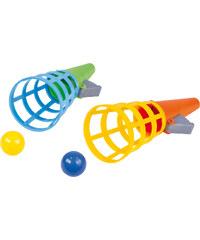 LENA Catch ball 2 hry se 2 míčky plast 19 cm na kartě