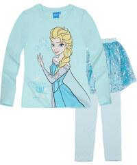 Disney Die Eiskönigin Pyjama blau in Größe 104 für Mädchen aus 100% Polyester 100% Baumwolle