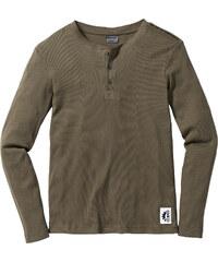 RAINBOW Rippen-Langarmshirt in grün für Herren von bonprix