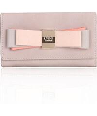 LYDC LONDON Béžová peněženka LYDC s barevnou mašlí