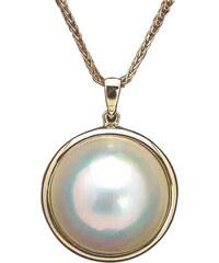 Eppi Zlatý náhrdelník s mabe perlou Mavia