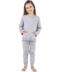 Dětské pyžamo Italian Fashion Awi Dz. dł. r. dł. sp., šedá