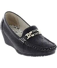 """I""""m Chaussures Mocassins effet python à boucle noir"""
