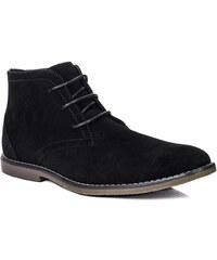 Spylovebuy Boots PEEK Hommes Lacet Plates Escarpins - Noir