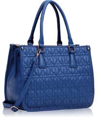 LS fashion LS dámská prošívaná kabelka 215A modrá
