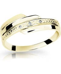 Danfil Zlatý prsten DF 1844 ze žlutého zlata, s briliantem