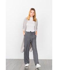 Esprit Široké strečové strukturované kalhoty