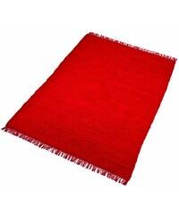 Teppich Handweb Uni handgewebt reine Baumwolle Collection HOME AFFAIRE COLLECTION rot 1 (B/L: 60x90 cm),2 (B/L: 70x140 cm),3 (B/L: 120x180 cm),4 (B/L: 160x230 cm),5 (B/L: 90x160 cm),6 (B/L: 190x290 cm