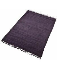 Teppich Handweb Uni handgewebt reine Baumwolle Collection HOME AFFAIRE COLLECTION schwarz 1 (B/L: 60x90 cm),2 (B/L: 70x140 cm),3 (B/L: 120x180 cm),4 (B/L: 160x230 cm),5 (B/L: 90x160 cm),6 (B/L: 190x29