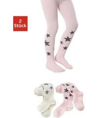 Kinderstrumpfhosen (2 Stück) mit Sternen Baur natur 104-110,116-122,128-134,140-146,92-98