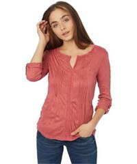 Tom Tailor Damen Poloshirt beautiful crincle shirt lila L,M,S,XL,XS,XXL,XXXL