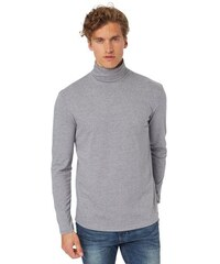 TOM TAILOR DENIM T-Shirt roll neck tee grau L,M,S,XXL