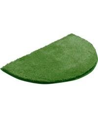 Badematte halbrund Grund LEX Höhe 32 mm rutschhemmender Rücken GRUND grün 8 (halbrund 50x80 cm)