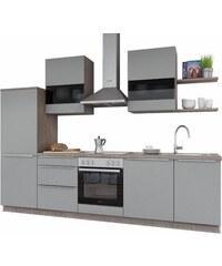 SET ONE BY MUSTERRING set one by Musterring Küchenzeile ohne E-Geräte Monza Breite 290 cm grau