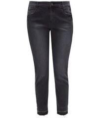 TRIANGLE Damen TRIANGLE Curvy: Jeans mit offenem Saum blau L (44),L (46),M (42),XL (48),XL (50),XXL (52)