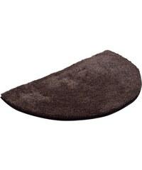 GRUND Badematte halbrund Grund LEX Höhe 32 mm rutschhemmender Rücken braun 8 (halbrund 50x80 cm)