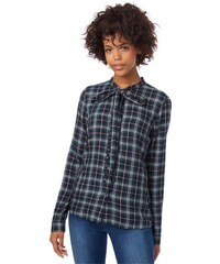 Damen Bluse check blouse with bow collar TOM TAILOR DENIM blau L,M,XS