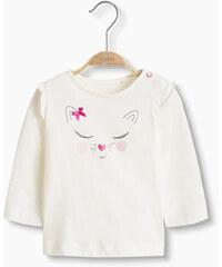 Esprit T-shirt à ornement, 100 % coton