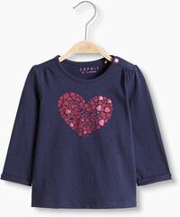 Esprit T-shirt à imprimé scintillant, 100 % coton