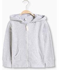 Esprit Mikina, kapuce, zip, tečky, bavln. teplák.