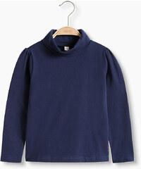 Esprit Pull col roulé basique, jersey coton/stretch