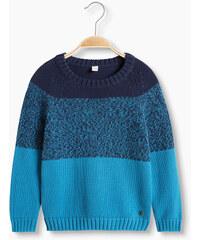 Esprit Pulovr s blokovými pruhy, 100% bavlna